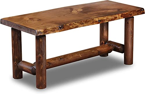 Rustic Log Coffee Table Pine and Cedar Honey Pine