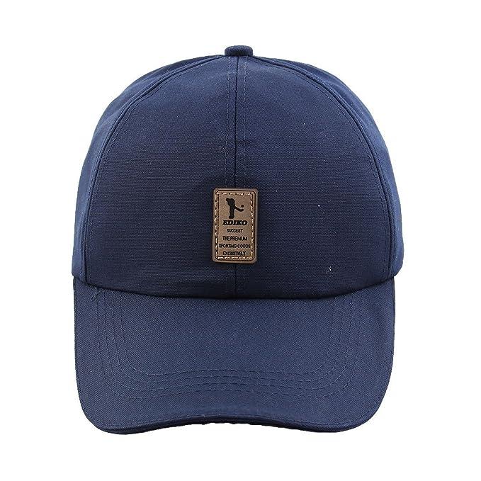 Amazon.com : eDealMax Unisex de algodón mezcla EDIKO Campo de Deportes del Modelo del logotipo de béisbol Ajustable del casquillo del Sombrero del visera ...