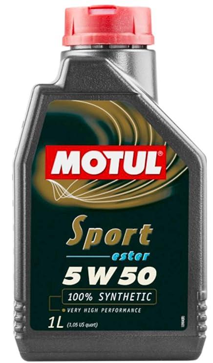 Amazon.com: Motul 103048 Sport 5w50 1 Liter, 1 Large, 1 Pack, 33.81 Fluid_Ounces: Automotive