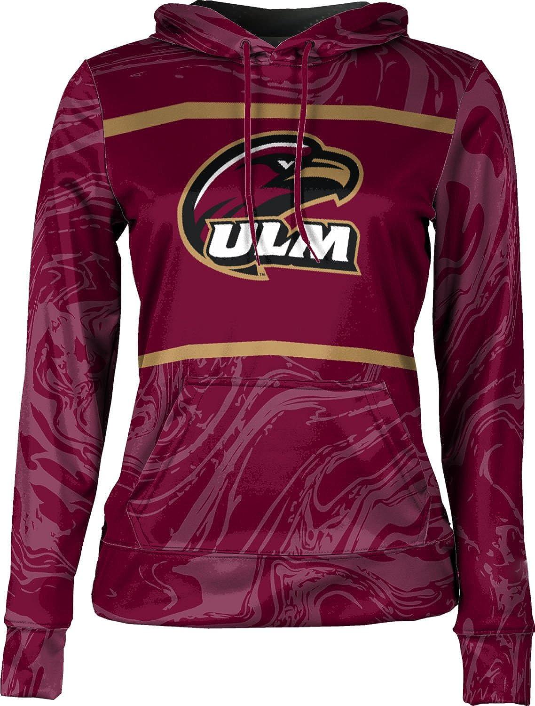 School Spirit Sweatshirt University of Louisiana at Monroe Girls Pullover Hoodie Ripple