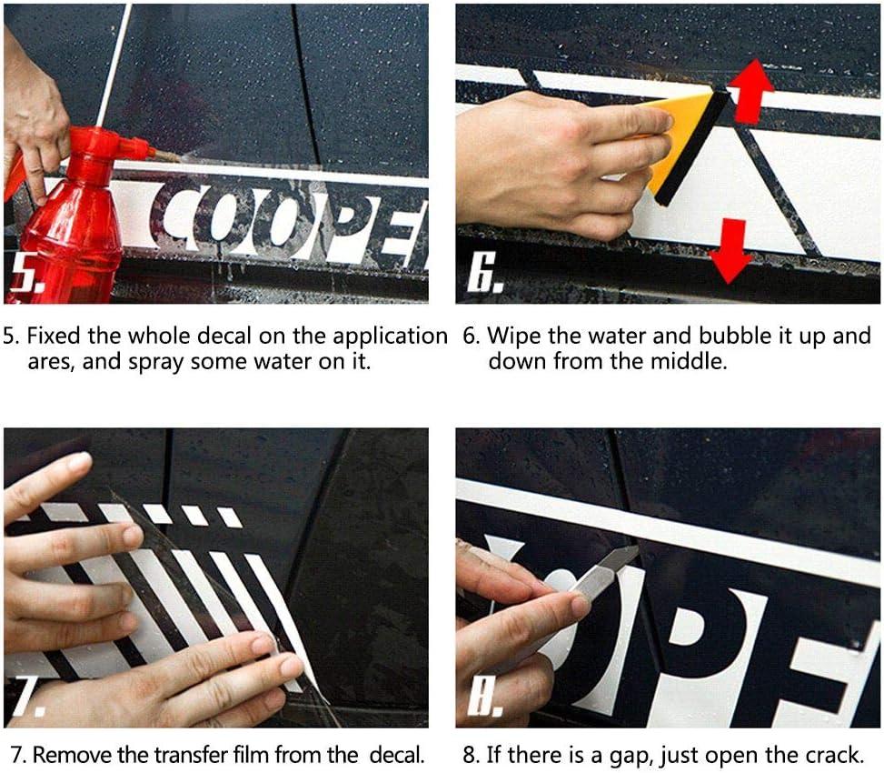 Cobear Adesivi Laterali Strisce Sport Stripes Adesivo Laterale per Iveco Transporter Individualit/à Adesivi Auto Decorazioni Accessori Blu 2 Pezzi