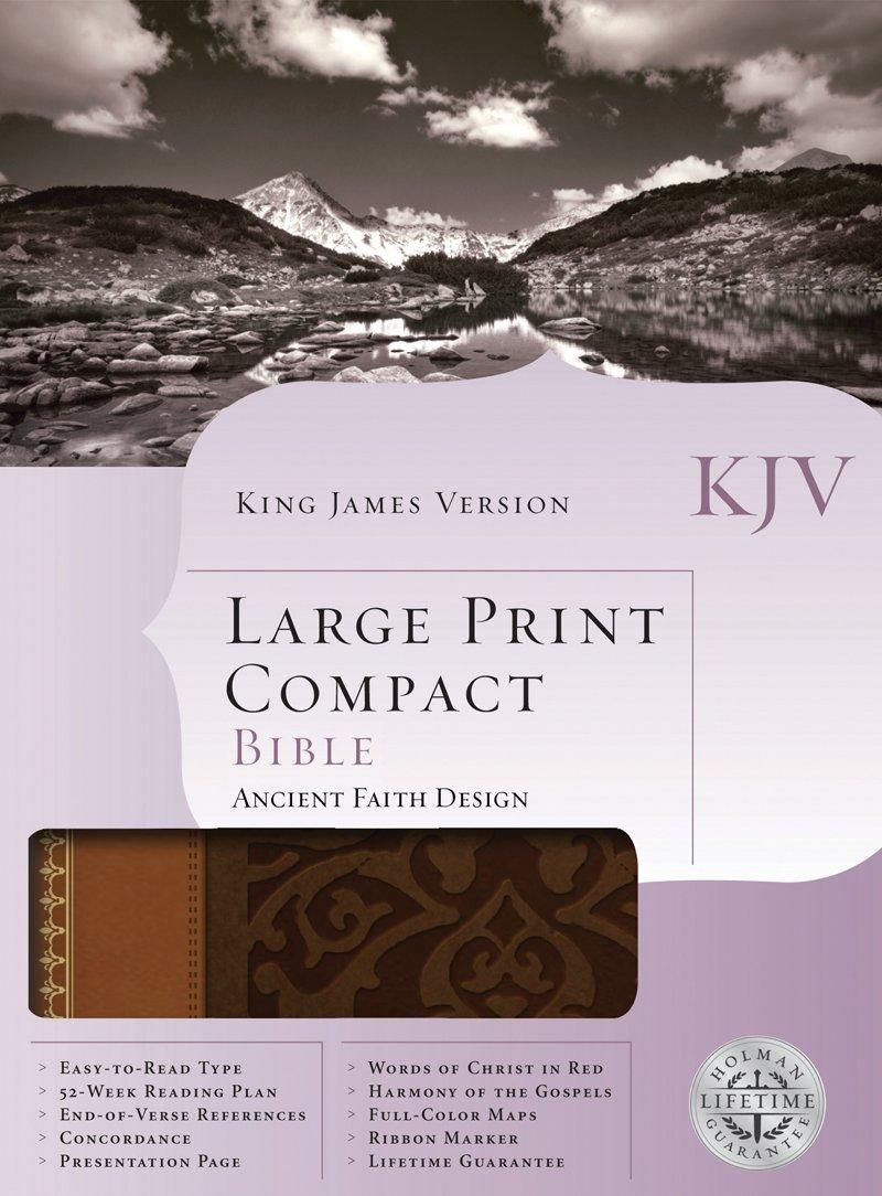 KJV Large Print Compact Bible, Brown/Tan LeatherTouch pdf