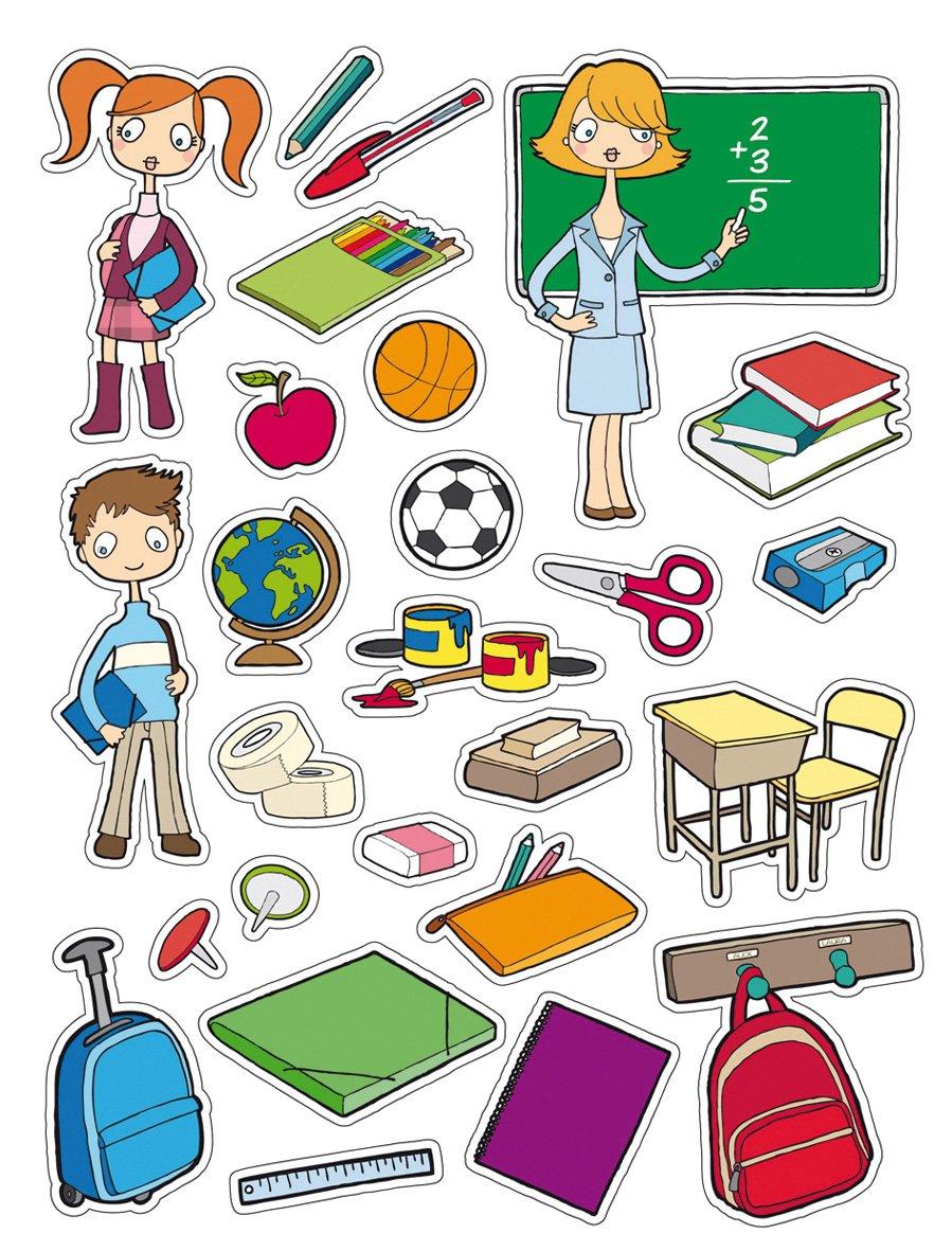 APLI Kids - Bolsa de gomets, 3 hojas, La escuela
