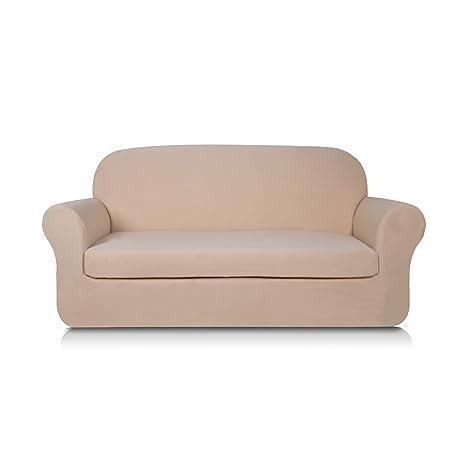 Subrtex - Funda de 2 piezas para sofá, extensible, punto de ...