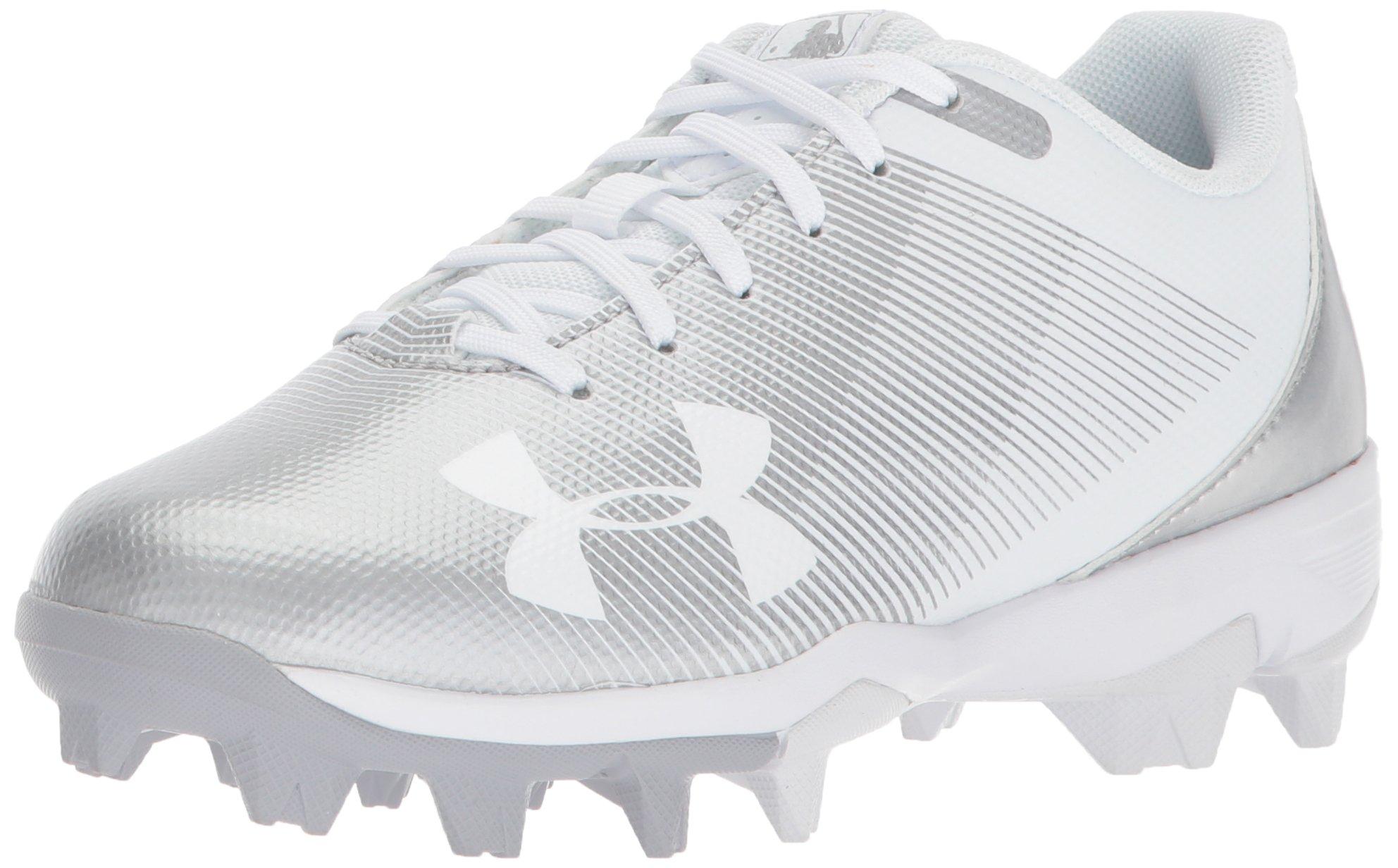 Under Armour Boys' Leadoff Low Jr. RM Baseball Shoe 100/White, 1