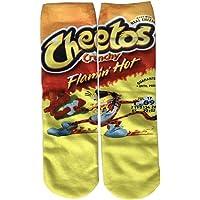 Beautyu Womens Fashion Funny Crazy Novelty Cartoon Food Print Cool Ankle Tube Socks
