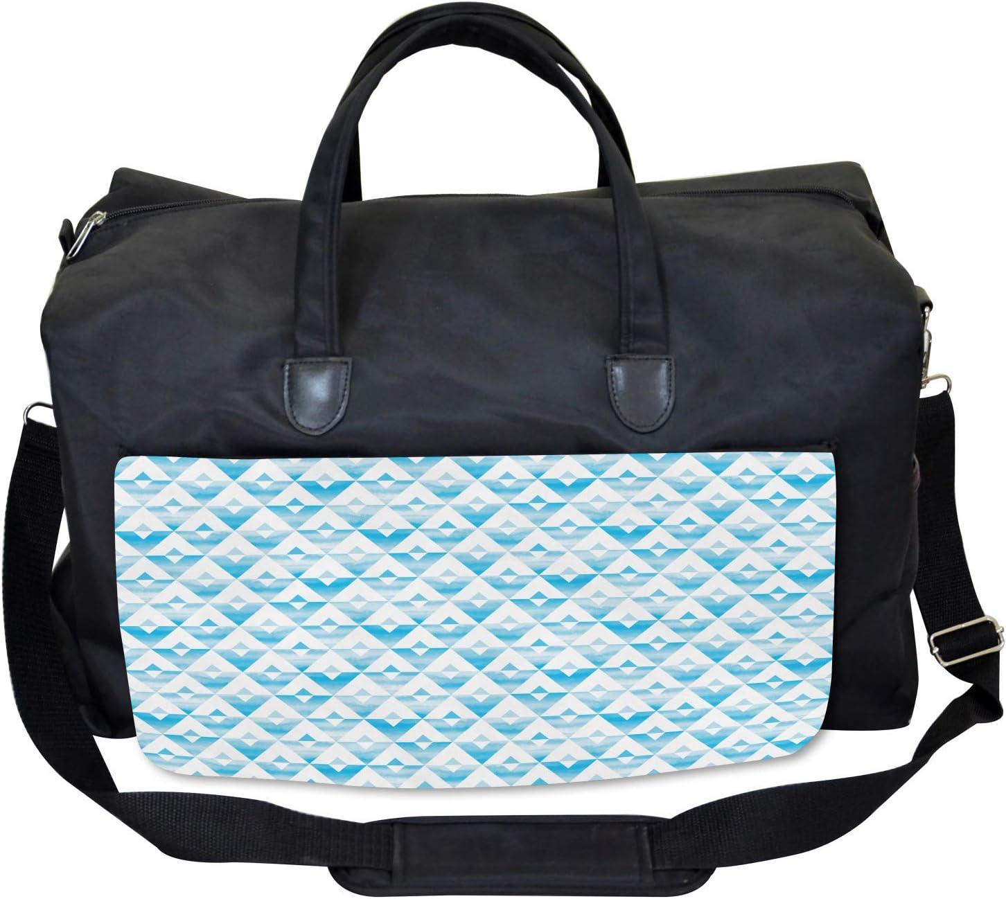 Ambesonne Modern Gym Bag Large Weekender Carry-on Geometric Shape Triangle