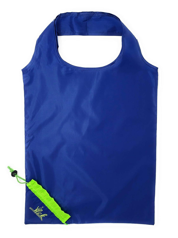 LCK Innovative Products 再利用可能なショッピングバッグ 5枚パック 洗濯可能な食料品バッグ ハンドル付き 環境に優しいリップストップナイロン防水生鮮食品バッグ トラベルポーチ付き 折りたたみ式 環境に優しい B07PZ26YDN