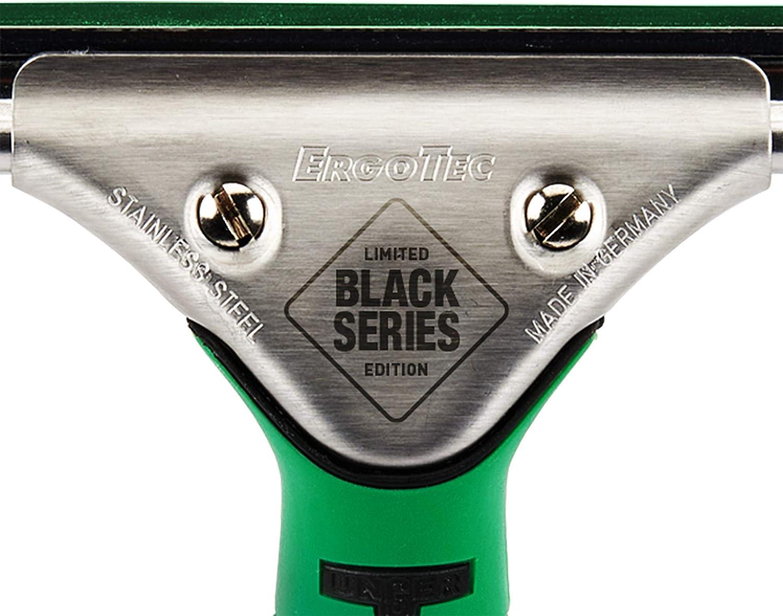 35 cm de Ancho, gomaespuma, Mango ergon/ómico, dureza Media Shore, sin Rayas Unger ErgoTec Black Series ES35S Limpiacristales