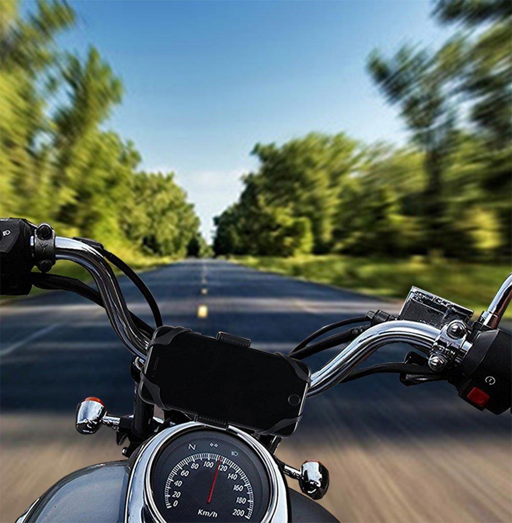Amazon.com: FULARR Premium Universal Bike Phone Holder for Motorcycle, Adjustable 360° Rotation Silicone Phone Mount, Holds Phones Up to 3.5