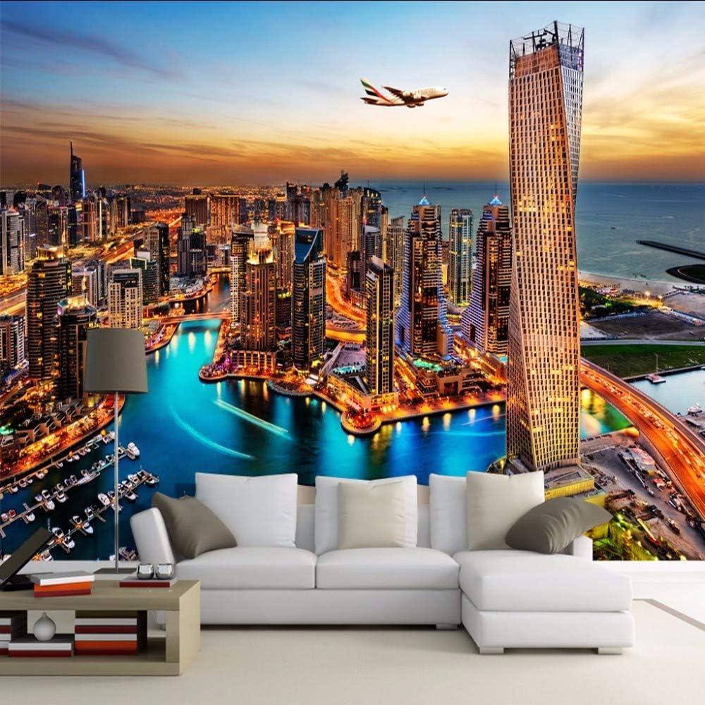 Amazon Com Rtfc Dubai City Night View Mural Wallpaper Custom Wall
