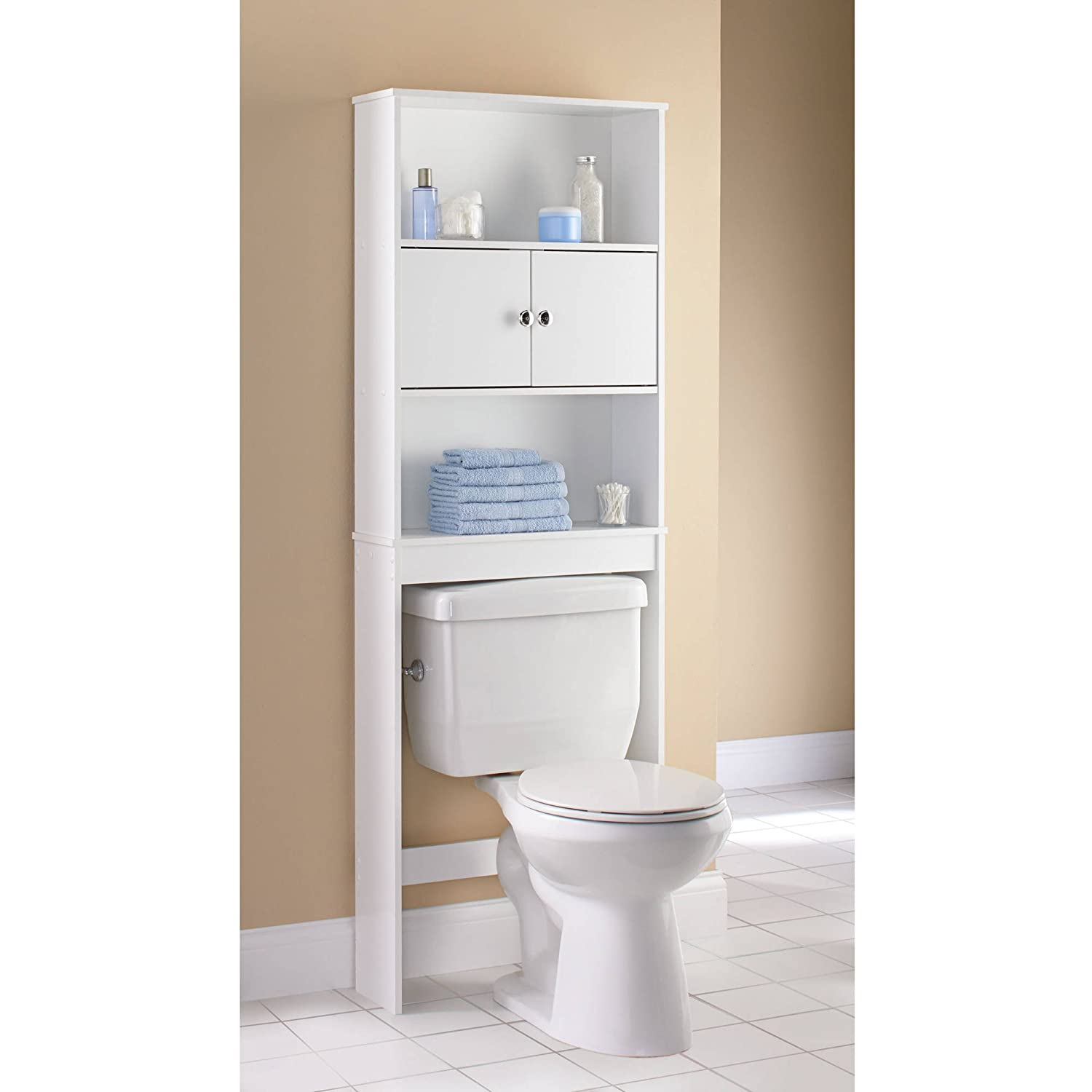 Amazon.com: Mainstays Wood Spacesaver, White: Office Products
