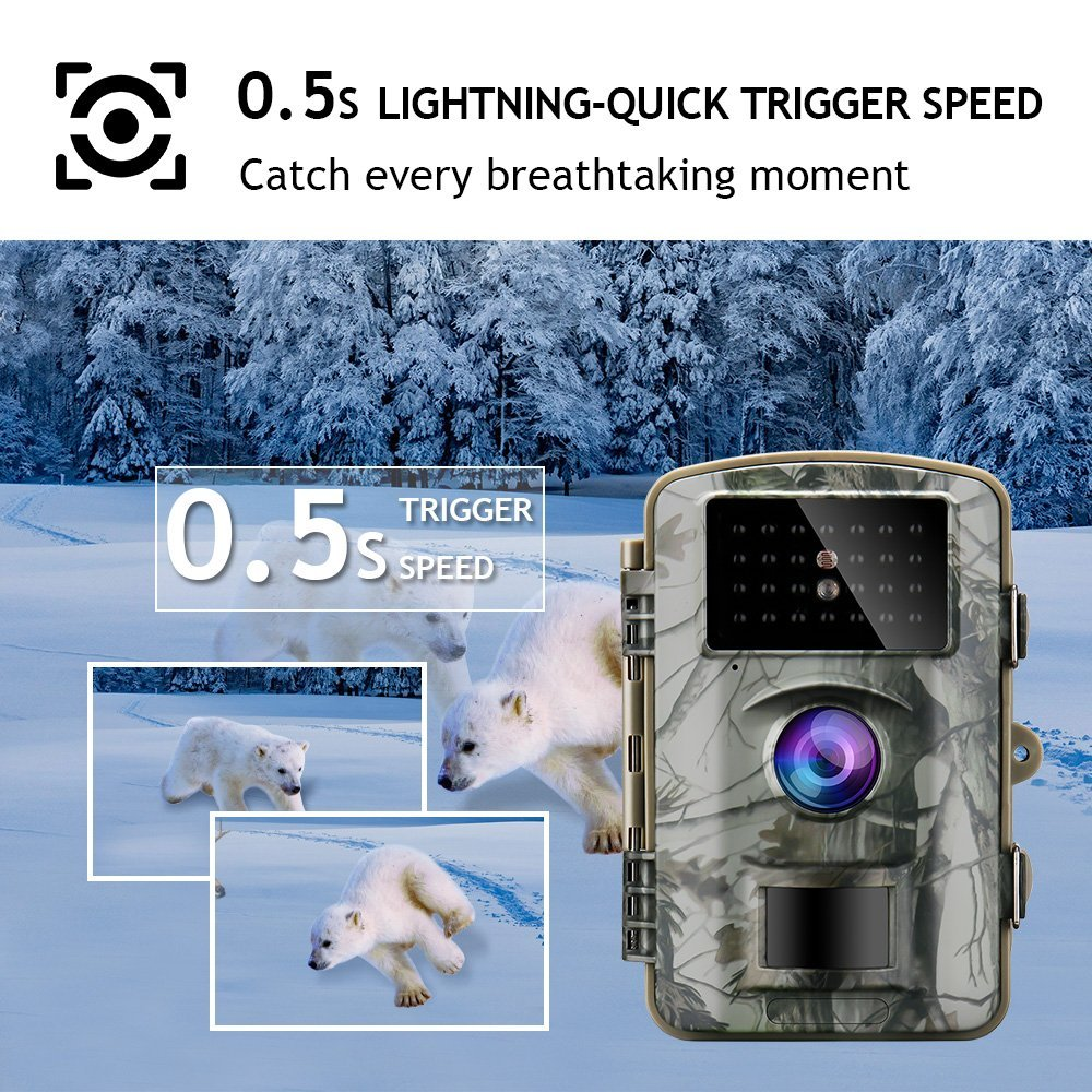 8d2bc86089b Gosira Trail Game Camera 12MP 1080P Waterproof Hunting Scouting ...