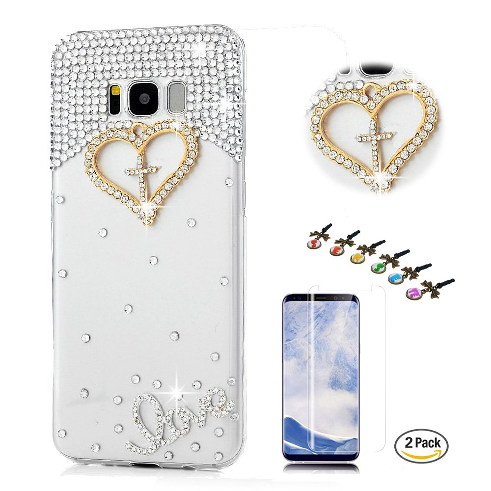 STENES Galaxy S9 Plus Case - Stylish - 100+ Bling - 3D Handmade Sweet Night Owl Flowers Floral Design Bling Cover Case with Screen Protector for Samsung Galaxy S9 Plus - Champagne 4351672847