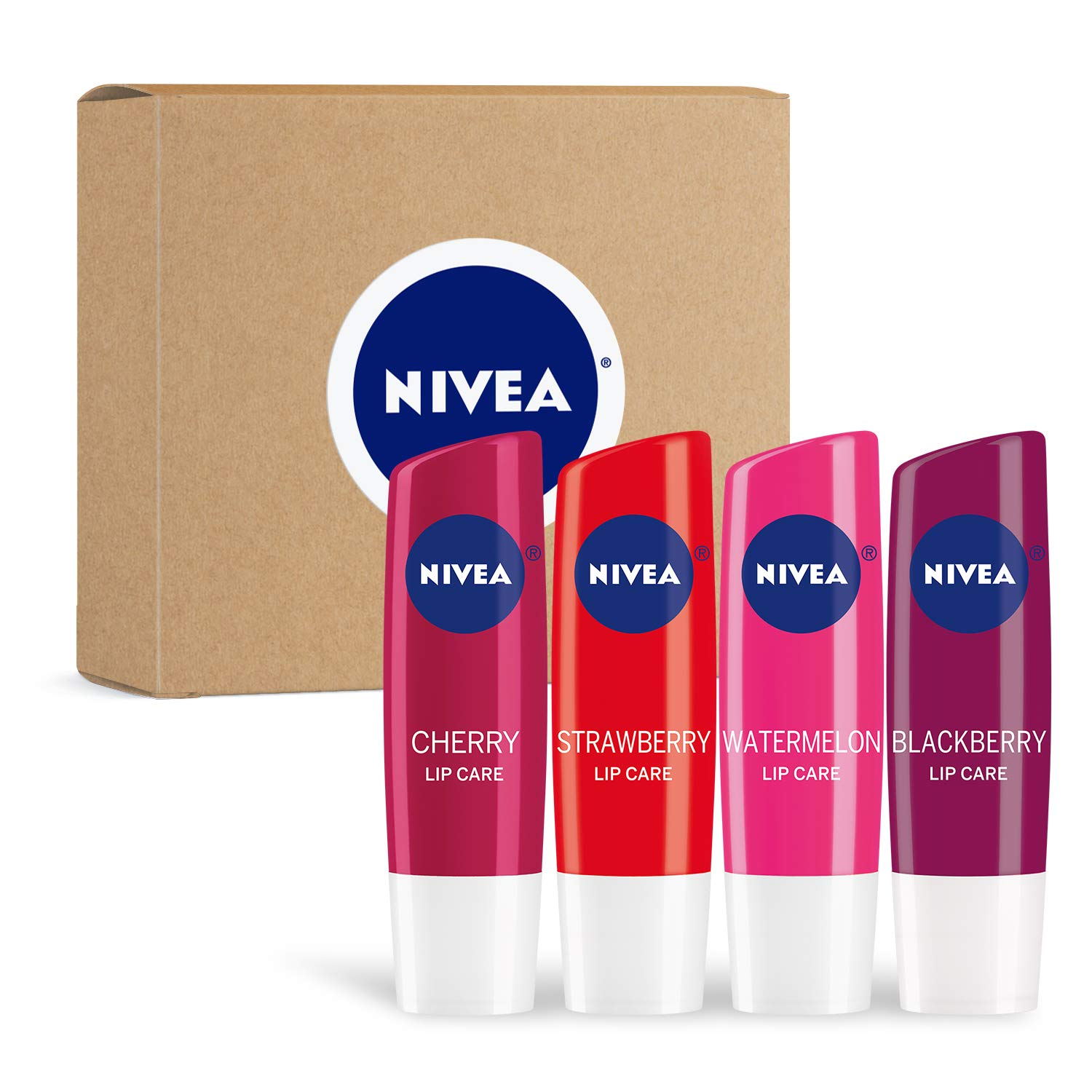 Nivea Fruit 4Piece Variety Pack, 0.17 Oz