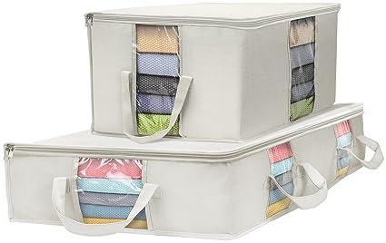 edf7119cb56c Amazon.com: Sorbus Foldable Storage Bag Organizer Set, Large Clear ...