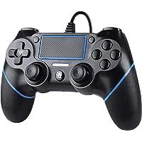 Zexrow Mando para PS4, Controlador De Juegos Con Cable para PlayStation4 / Pro / Slim / PC, Gamepad Con Vibración Dual…