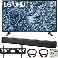 LG 55 Inch UP7000 Series 4K LED UHD Smart webOS TV (2021 Model) Bundle with Deco Home 60W 2.0 Channel Soundbar, 37-70…