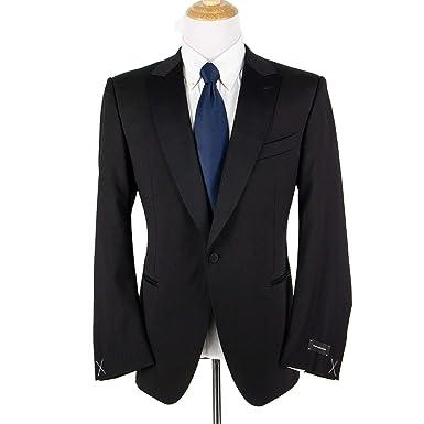 81c7057e Amazon.com: Ermenegildo Zegna Multiseason Torin Black Wool Satin ...