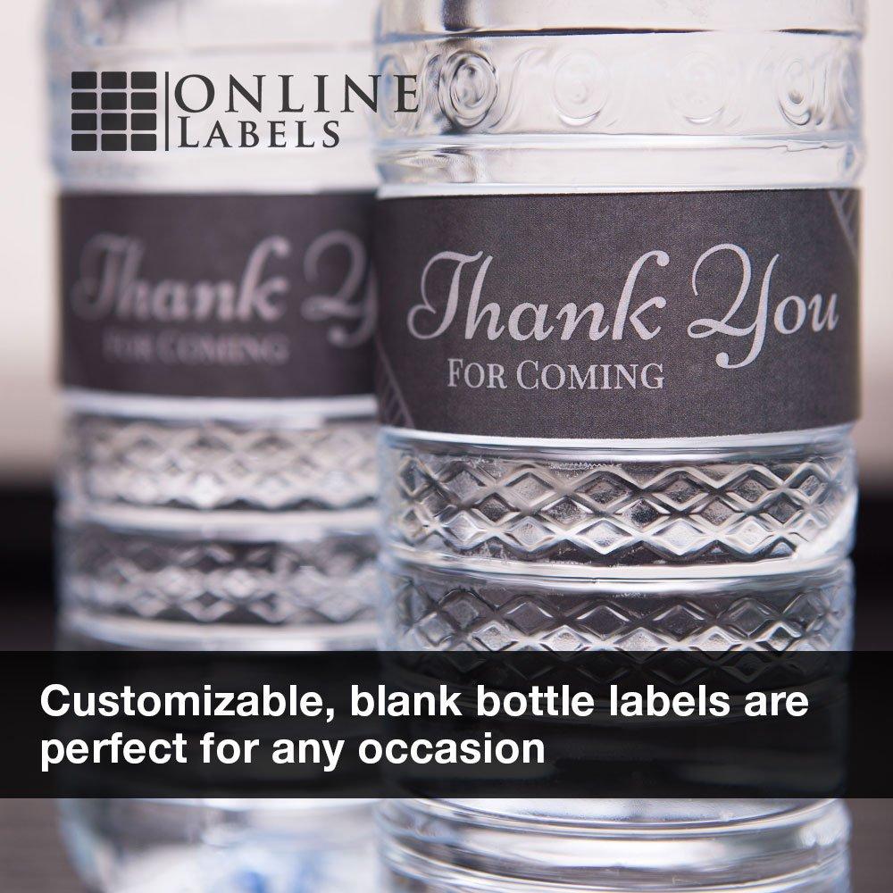 Amazon Com 1 25 X 9 75 Water Bottle Labels 100 Sheets