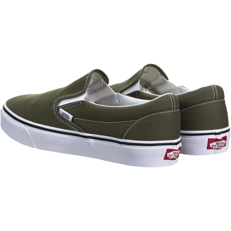 Vans ''Classic Slip-On Sneakers (Winter Moss/True White) Unisex Skate Shoes by Vans (Image #4)