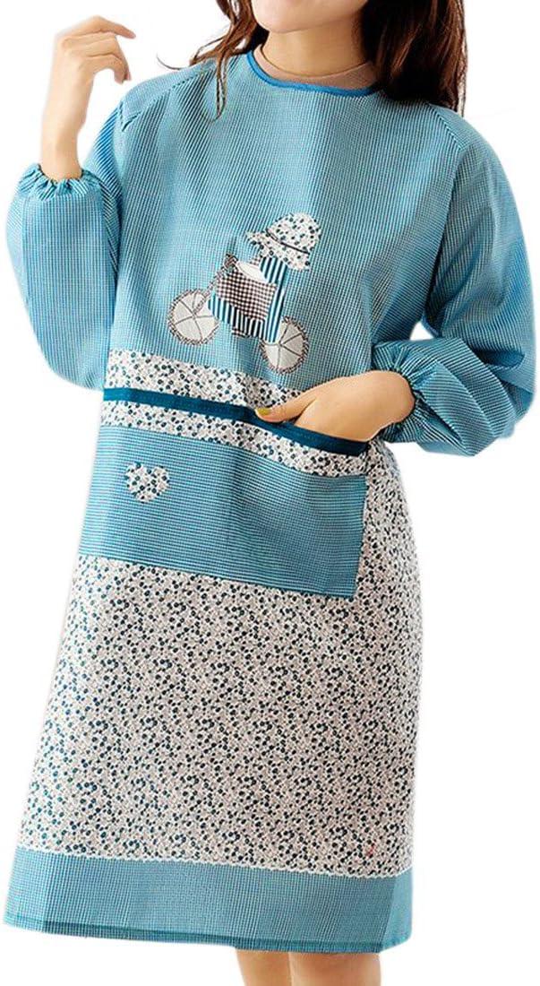 violet Zhaoke Femme Antifouling Tablier /à manches longues Floral de cuisine de m/énage Tablier de jardinage r/ésistant /à lhuile Polyester Taille unique