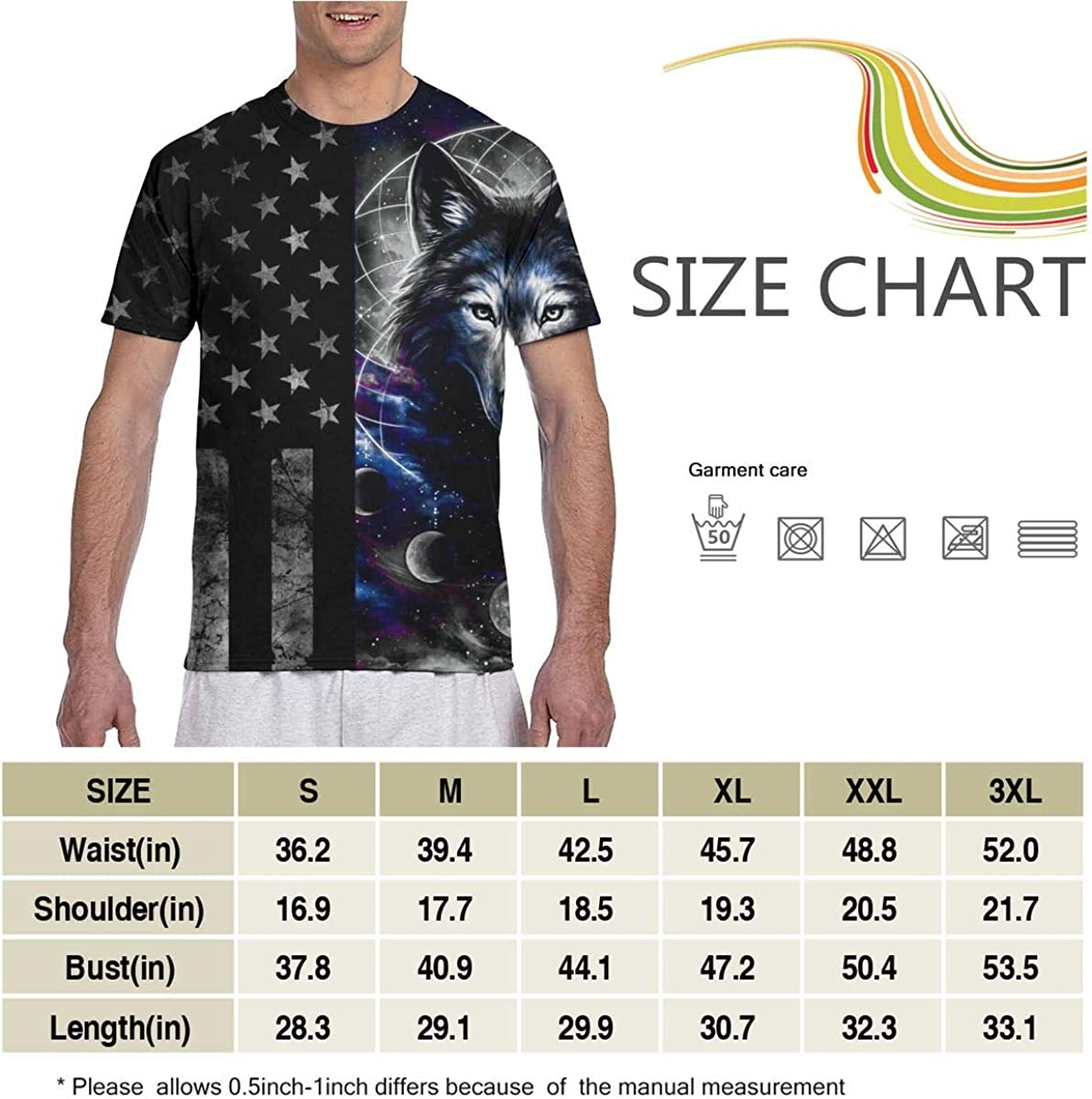 PX DIY SHOP Men Tops Teens Autumn T-Shirts Crewneck Short Sleeve 3D Graphic Print Top Tees