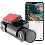 """VVCAR 3.0"""" Triple Dash Cam Dual HD 1080P Front and Rear Camera Built-in WiFi,Infrared Night Vision Inside,170 Degrees Wide-An"""