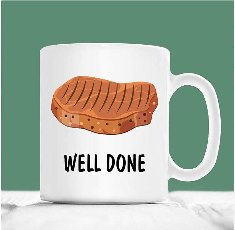 Steak Coffee Mug Well Done Food Pun Mug Meat Lover Mug Graduation Mugs Funny Graduation Gifts 2018 Graduation Gifts Funny Steak Gifts