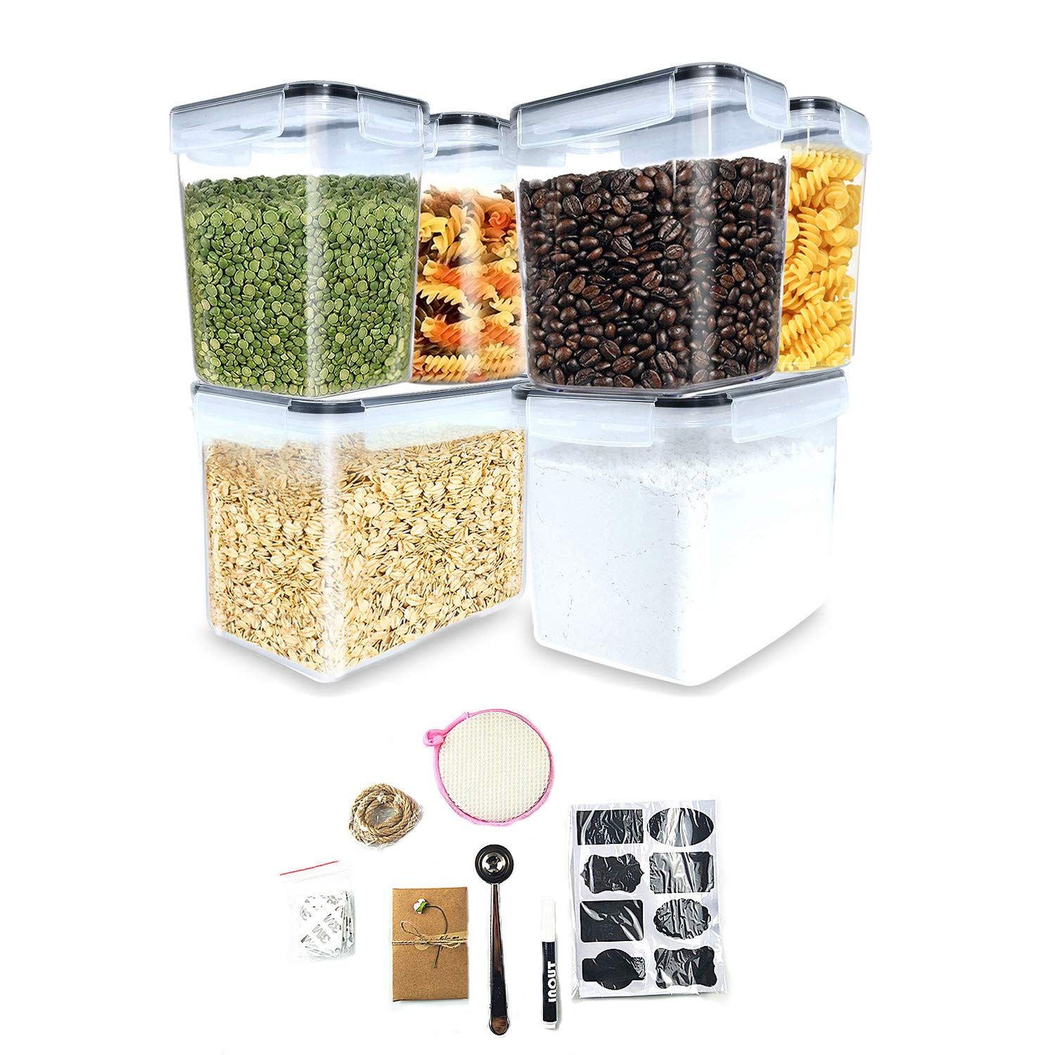 Inout airtight container set of 6,Tall Large Food Storage