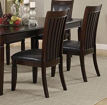 Amazoncom Coaster Ramona Side Chair Set Of  Chairs - Dining room side chairs