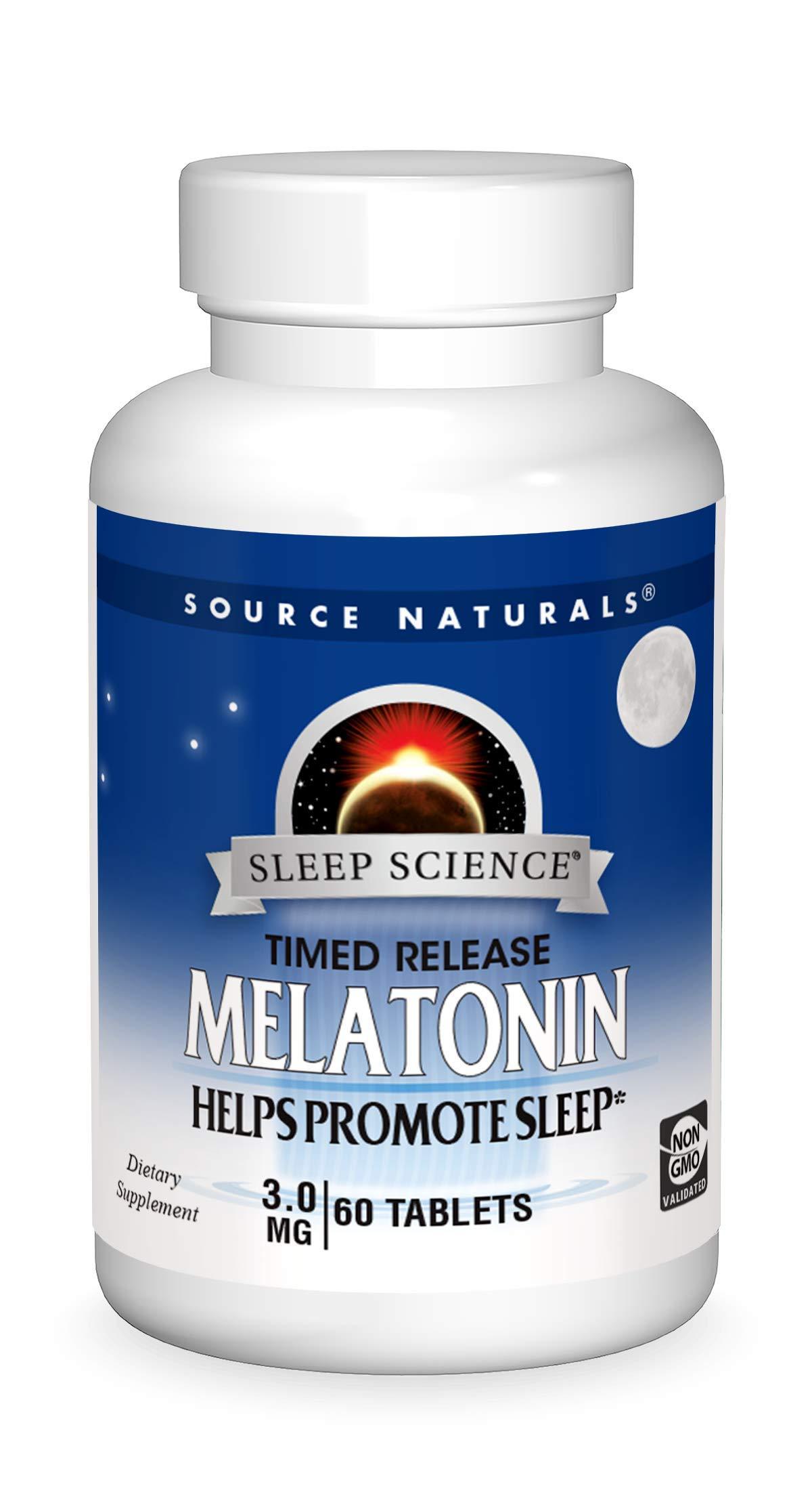 Source Naturals Sleep Science Melatonin 3 mg Helps Promote Sleep - 120 Time Release Tablets