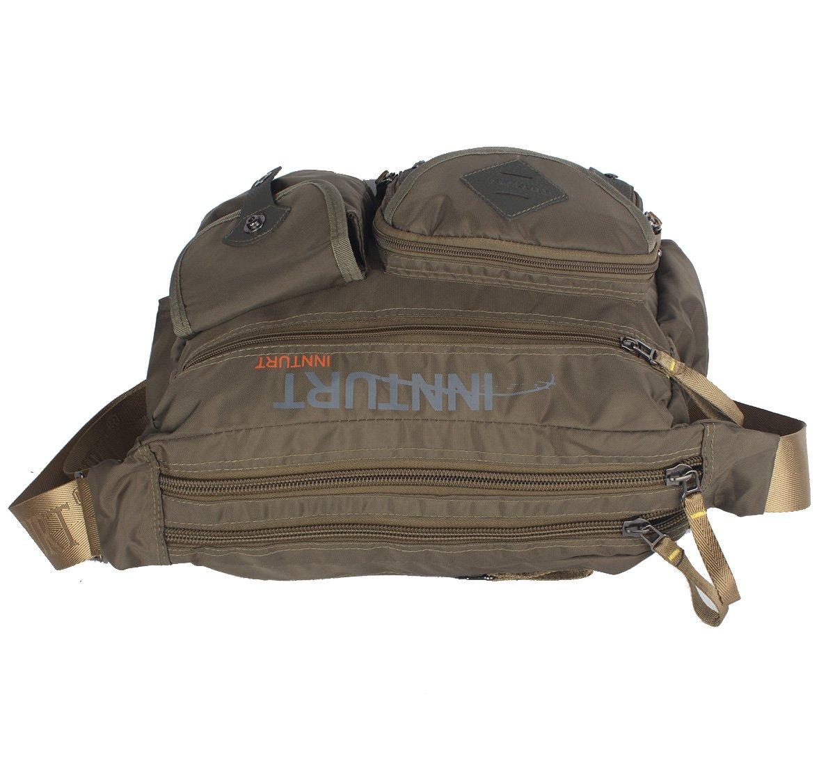 Innturt Nylon Messenger Bag Shoulder Sling Bag Army Green by Innturt (Image #3)