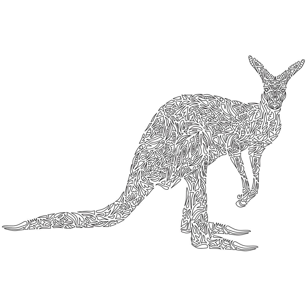 Kaisercolour Coloring Poster 27''X19''-Kangaroo