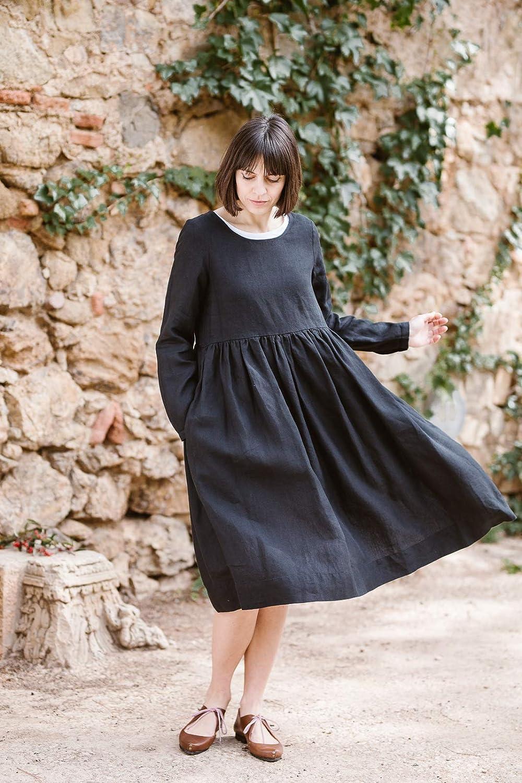 f1d046bcef660b Amazon.com  Linen Smock Dress