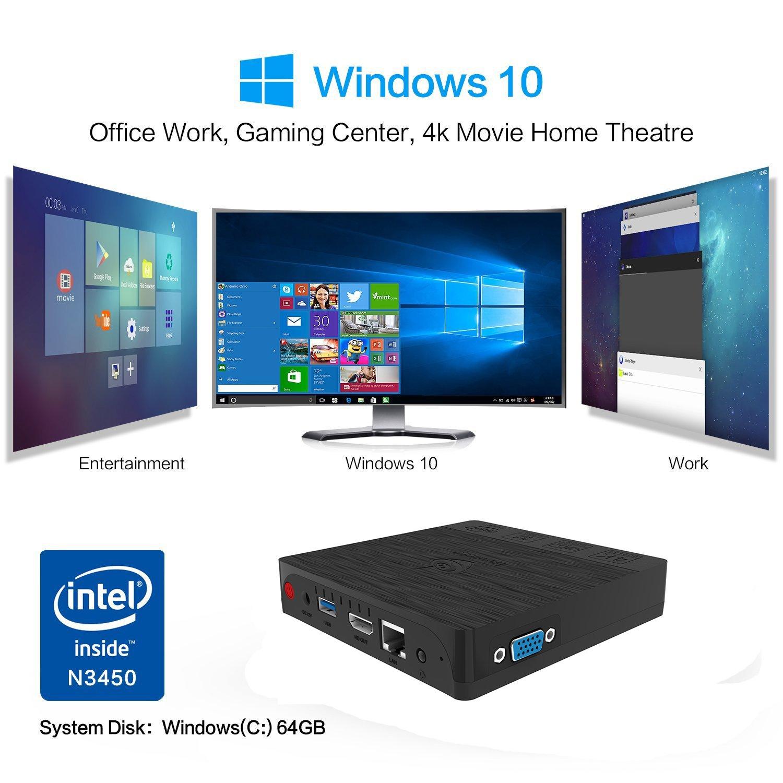 MINI Computer, Beelink BT3 Pro 4GB/64GB MINI PC, Intel Atom X5-Z8350 PC Desktop 4K 64Bit Dual WiFi BT 4.0 1000Mbps LAN Support Windows 10 [Dual Output-VGA&HDMI] by BoLv (Image #6)