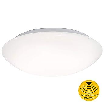 Briloner Leuchten – LED Deckenlampe mit Bewegungsmelder, Deckenleuchte mit Tageslichtsensor (optional einstellbar), 15W, 1500