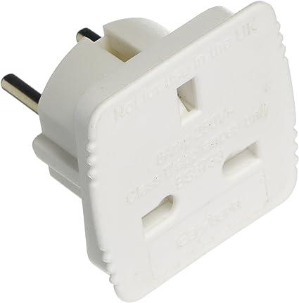 Plug – UK para conector de adaptador de la UE: Amazon.es: Bricolaje y herramientas