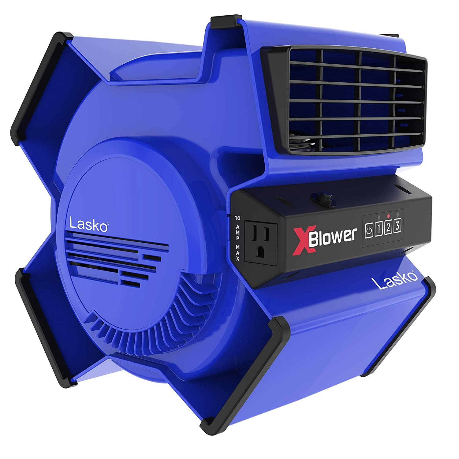 Lasko X12905 High Velocity X-Blower Utility Fan for Cooling, Ventilating, Exhausting and Drying at Home, Job Site and Work Shop, 12905