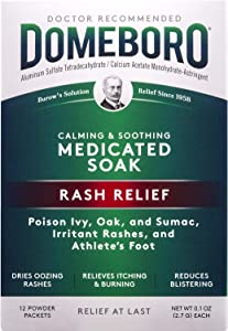Domeboro Soothing Soak Rash Relief Poweder Packets, 12 ea (Pack of 2)