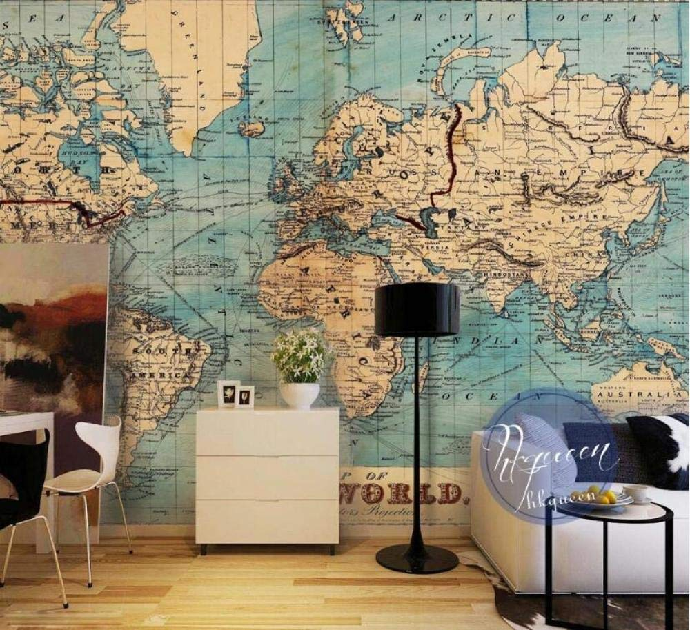 430300cm  Photo personnalisée 3D papier peint murale rétro version anglaise européenne monde voiturete fond papier peinture décorative @ 200  140cm