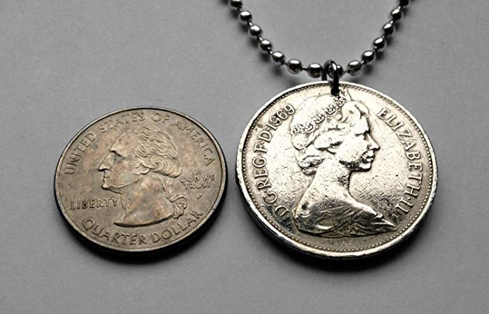 United Kingdom England 10 Pence coin earrings English lion London Great Britain Leicester Norwich Reading Portsmouth Kent Essex Bath e000323
