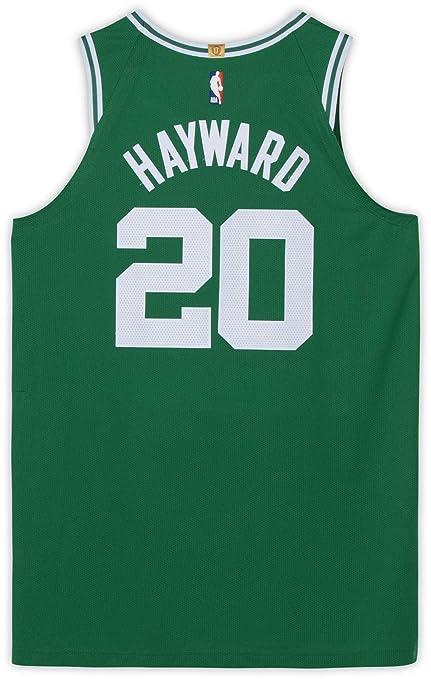 separation shoes 7256c 0112d Gordon Hayward Boston Celtics Game-Used #20 Green Jersey vs ...