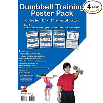 Amazon.com: 4pc Complete ejercicios de fitness Cartel Pack ...
