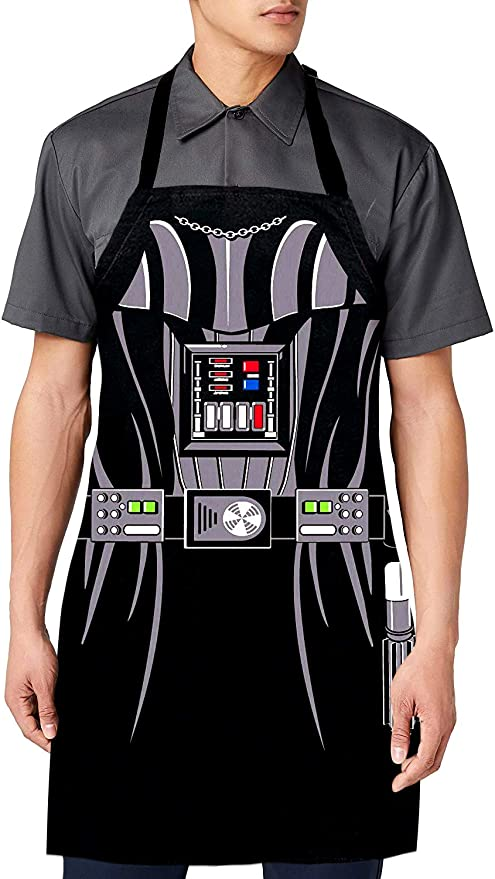 Cabany Basics Darth Vader Men's Adjustable Apron | Star Wars Grill Father BBQ Men's | Adult Size 100% Cotton