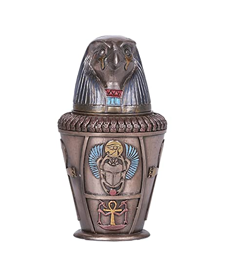 Amazon.com: Colección de Egipto qubsenuef Canopic Jar 8114 ...