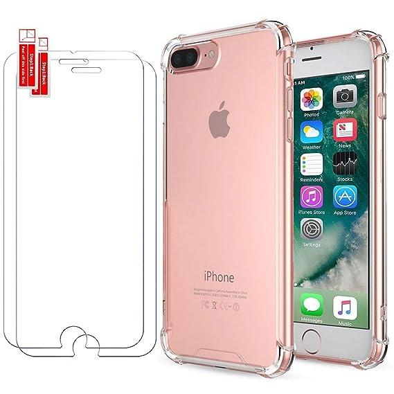Garegce Custodia iPhone 8 Plus Custodia iPhone 7 Plus Silicone