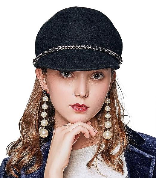0111514eb4e9c JNINTH Women Wool Bucket Hat Soft Comfortable Classical Cap with Visor