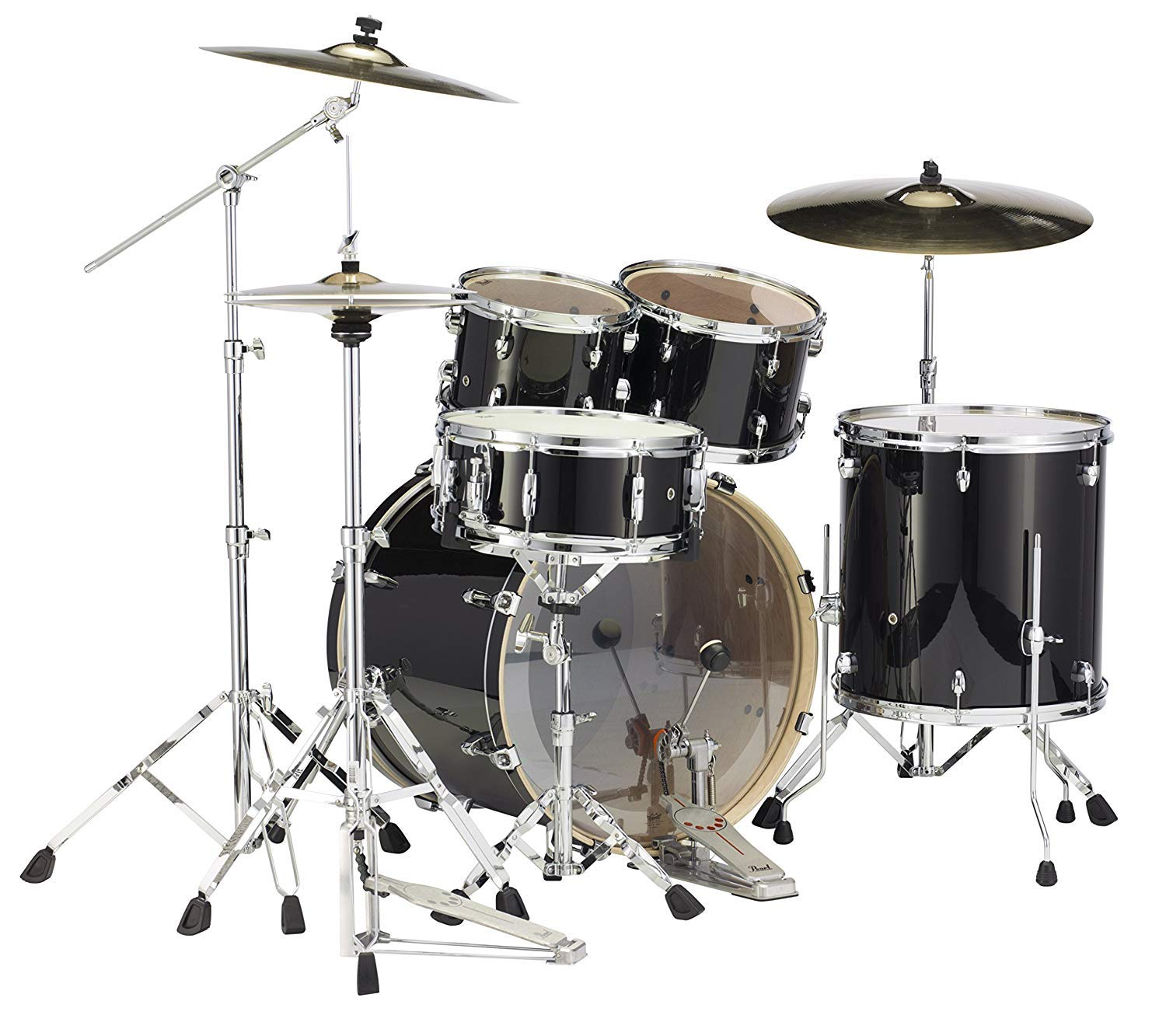 Pearl Export EXL 5-piece Shell Pack with Snare Drum - Black Smoke