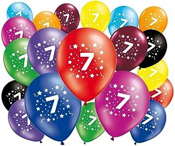 FABSUD Lote de 20 globos cumpleaños 7 años